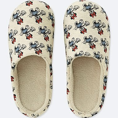 MICKEY TRAVELS SLIPPERS, NATURAL, medium