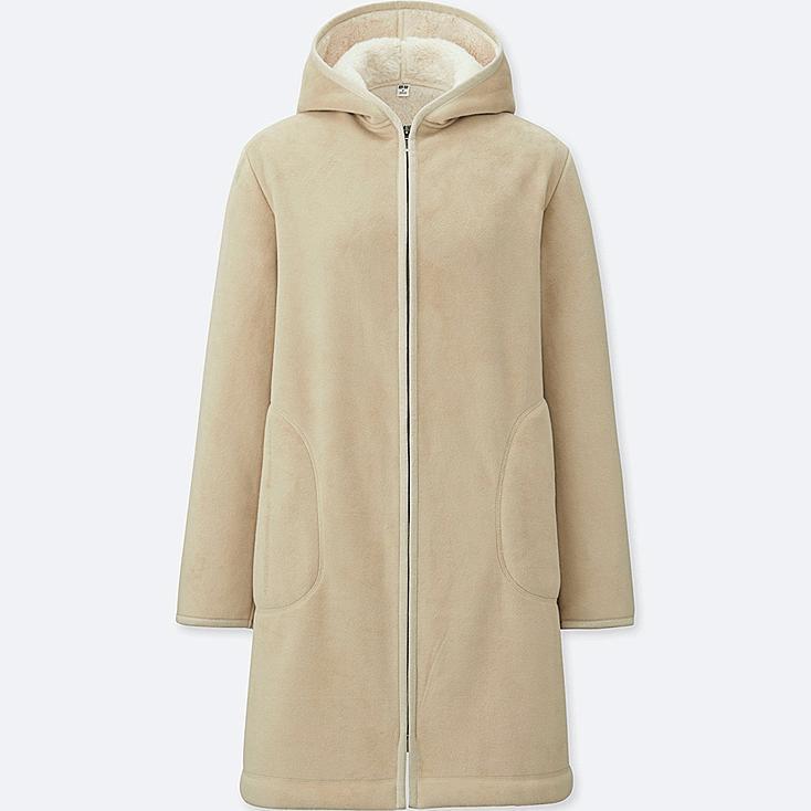Women Pile Lined Fleece Long Sleeve Coat Uniqlo Us