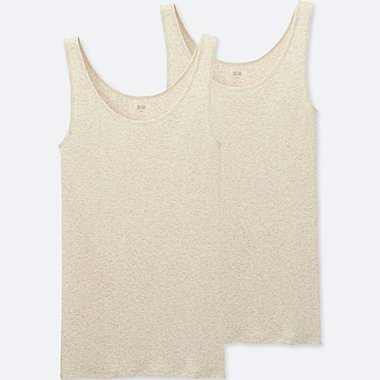 WOMEN SUPIMA COTTON SLEEVELESS TOP (2 PACK)