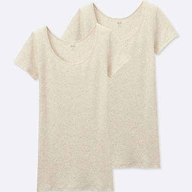 WOMEN SUPIMA COTTON SCOOP NECK SHORT SLEEVE T-SHIRT