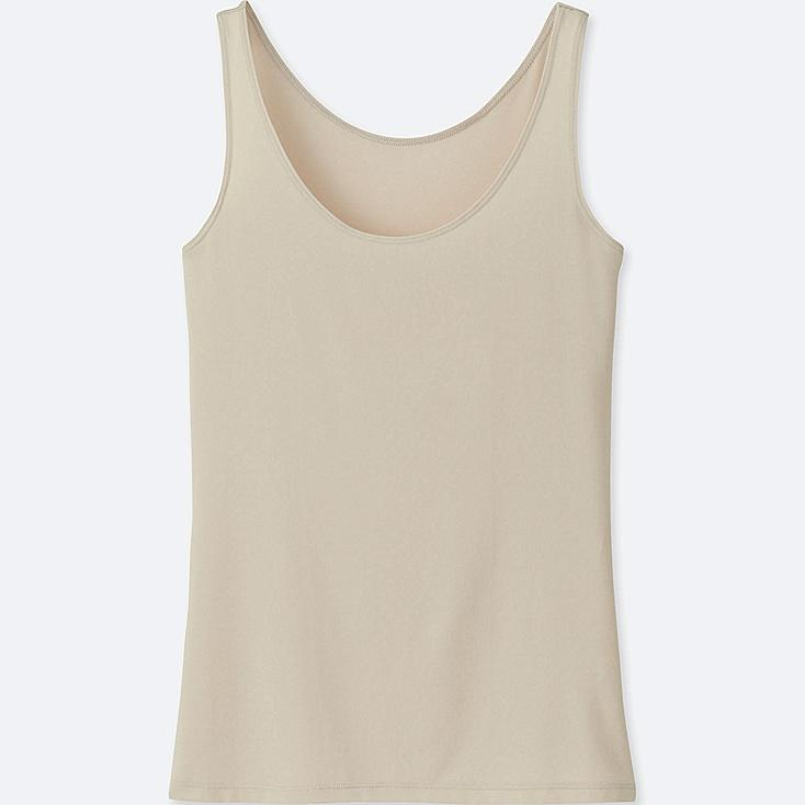 WOMEN AIRism SLEEVELESS TOP, NATURAL, large