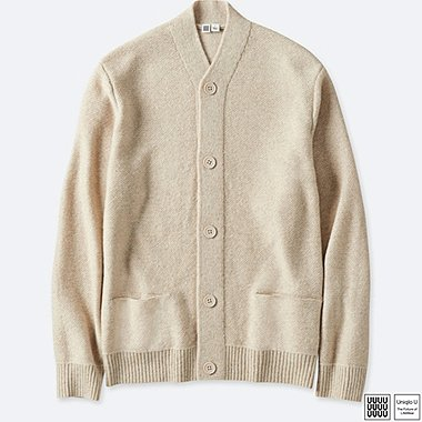MEN UNIQLO U LAMBSWOOL BLENDED V NECK CARDIGAN