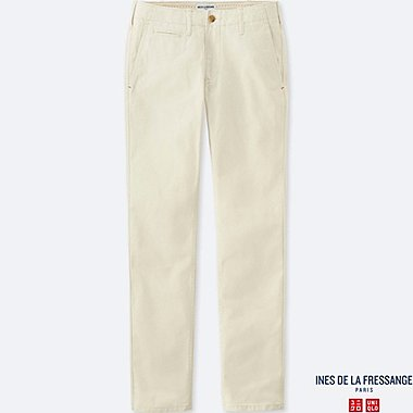 WOMEN INES 100% COTTON CHINO TROUSERS