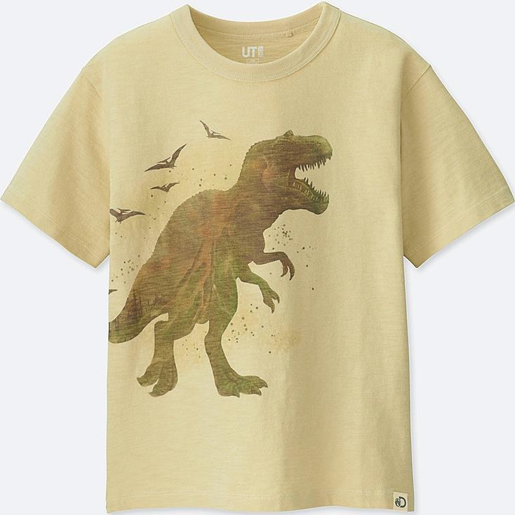 KIDS Discovery Channel SHORT-SLEEVE GRAPHIC T-SHIRT, NATURAL, large