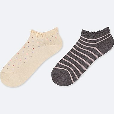 GIRLS SHORT SOCKS (SET OF 2), NATURAL, medium