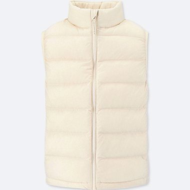 KIDS LIGHT WARM PADDED VEST, NATURAL, medium