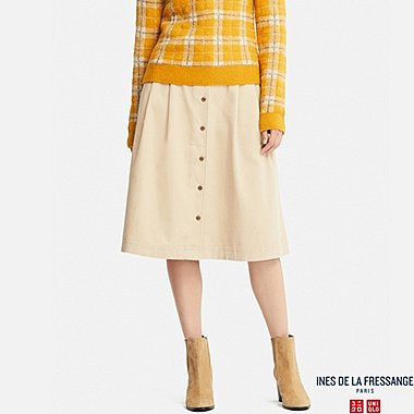 WOMEN INES CORDUROY TUCKED SKIRT