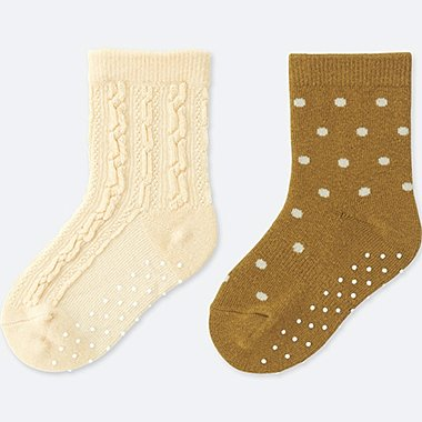 BABY SOCKS (2 PAIRS), NATURAL, medium