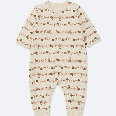 BABIES NEWBORN QUILTED ONE PIECE OUTFIT LONG SLEEVE