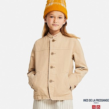 KIDS CORDUROY COVERALL (INES DE LA FRESSANGE), NATURAL, medium