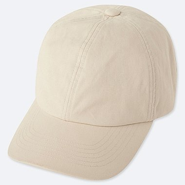 COTTON TWILL CAP, NATURAL, medium