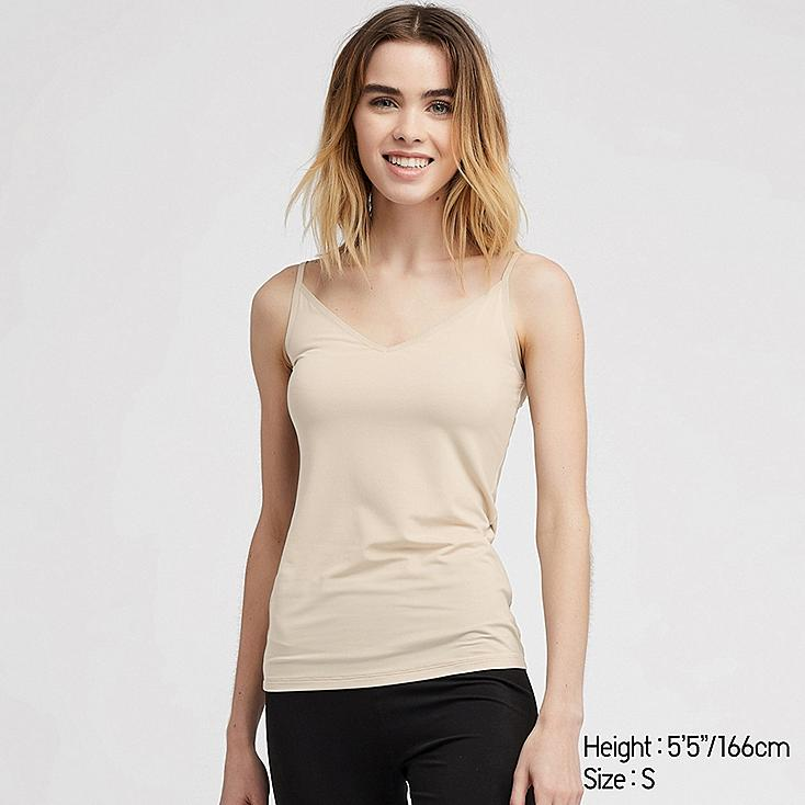 WOMEN AIRism CAMISOLE, NATURAL, large
