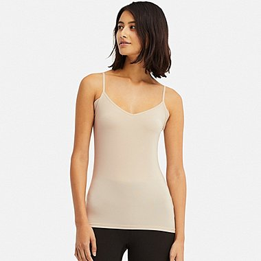 WOMEN AIRISM PADDED V NECK CAMISOLE TOP