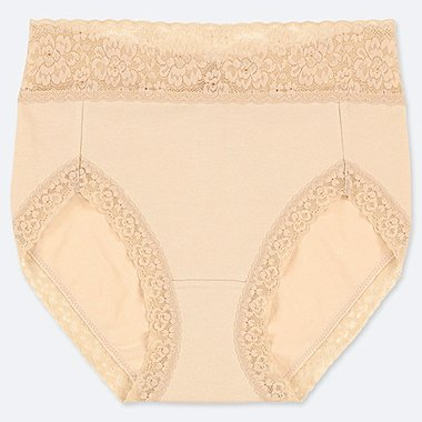 WOMEN HIGH RISE LACE BRIEFS