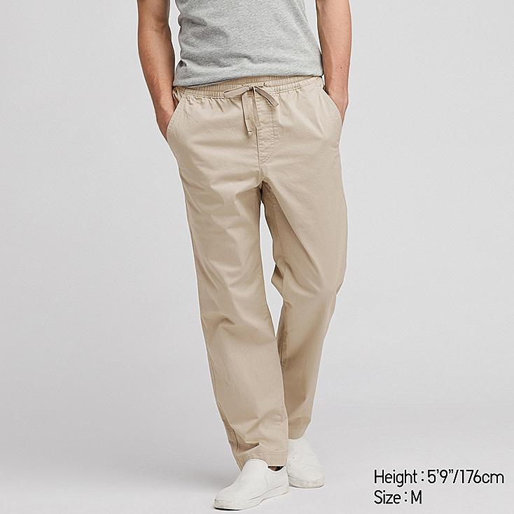 MEN TWILL RELAX ANKLE PANTS, NATURAL, large