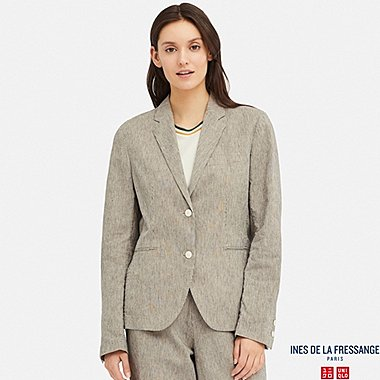 WOMEN CORDLANE JACKET (INES DE LA FRESSANGE), NATURAL, medium