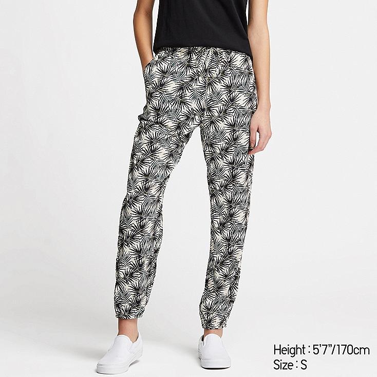 WOMEN DRAPE JOGGER PANTS, NATURAL, large