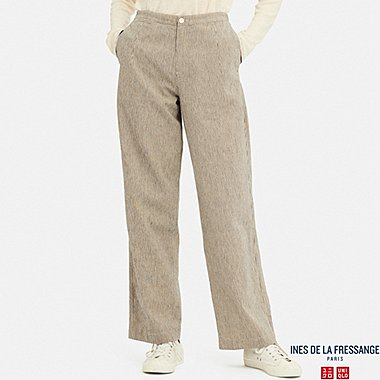 WOMEN CORD LANE RELAXED PANTS (INES DE LA FRESSANGE), NATURAL, medium