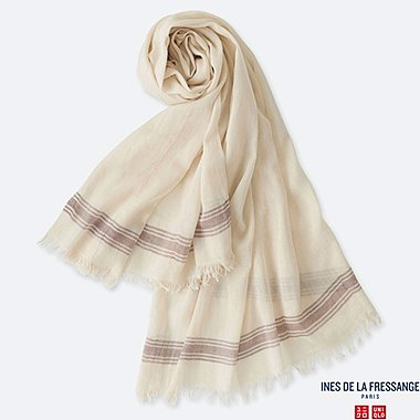 WOMEN INES COTTON SILK BLEND STOLE