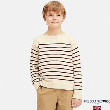 KIDS BOAT NECK LONG-SLEEVE SWEATER (INES DE LA FRESSANGE), NATURAL, medium