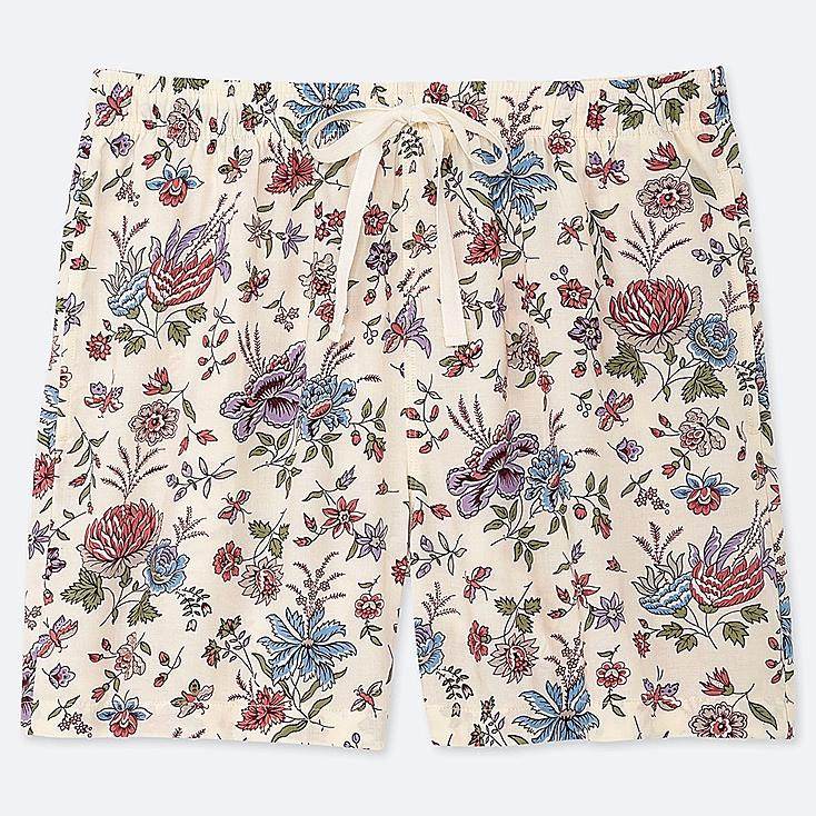 WOMEN PROVENCE PRINTED RELACO SHORTS, NATURAL, large