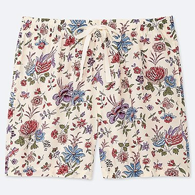 WOMEN PROVENCE PRINTED RELACO SHORTS, NATURAL, medium
