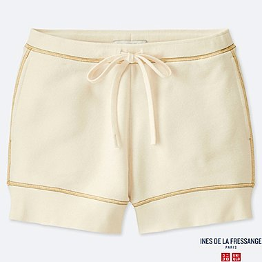 WOMEN FRENCH TERRY SHORTS (INES DE LA FRESSANGE), NATURAL, medium