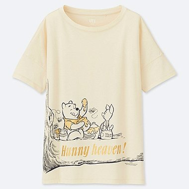 WOMEN MAGIC FOR ALL ARCHIVE SHORT-SLEEVE GRAPHIC T-SHIRT (DISNEY PROJECT), NATURAL, medium