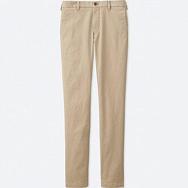 Mens Flat Front Slim-Fit Chino Pants, BEIGE, medium