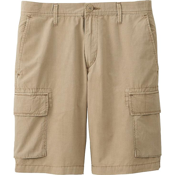 MEN CARGO SHORTS, BEIGE, large