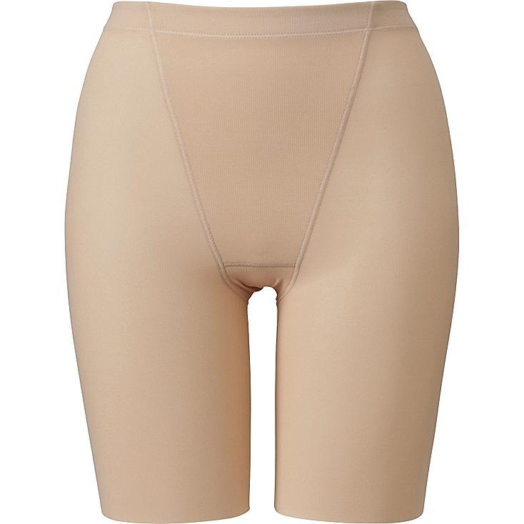 Shapewear High Rise Half Shorts, BEIGE, large