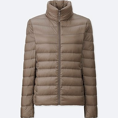 WOMEN ULTRA LIGHT DOWN JACKET, BEIGE, medium