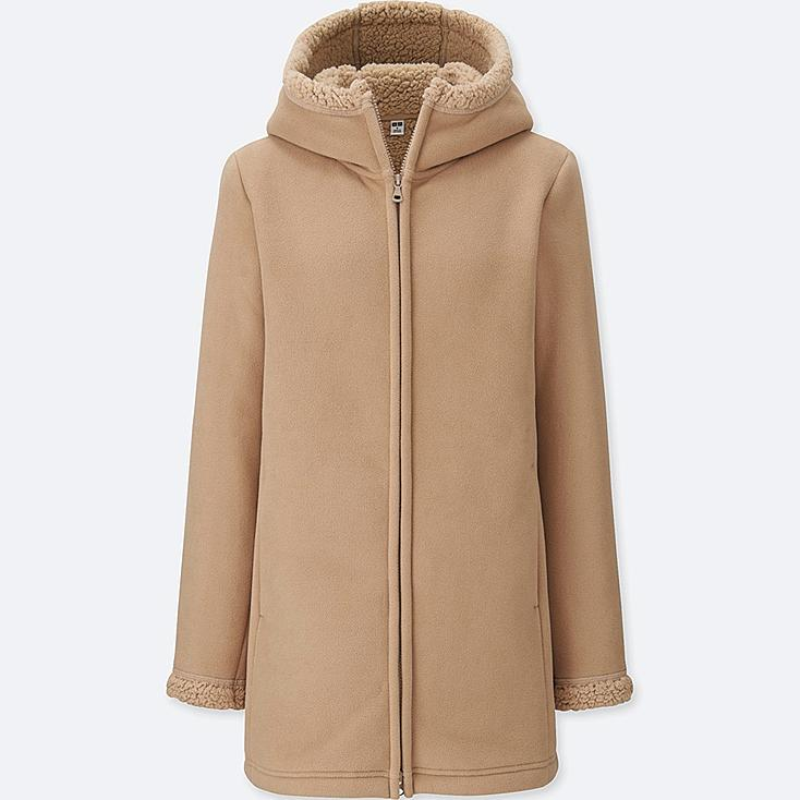 WOMEN PILE-LINED FLEECE LONG SLEEVE COAT | UNIQLO US
