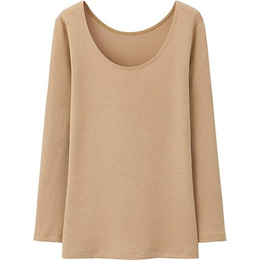 HEATTECH Extra Warm WOMEN Scoop Neck T-Shirt