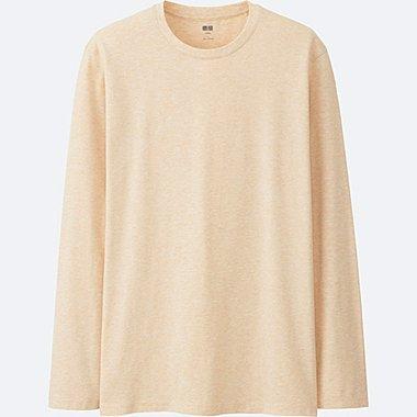 T-Shirt En Coton Supima Col Rond Manches Longues HOMME