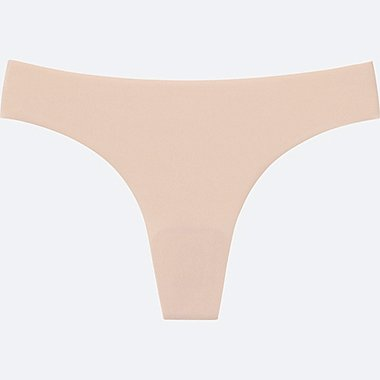 WOMEN ULTRA SEAMLESS SHORTS (THONG), BEIGE, medium