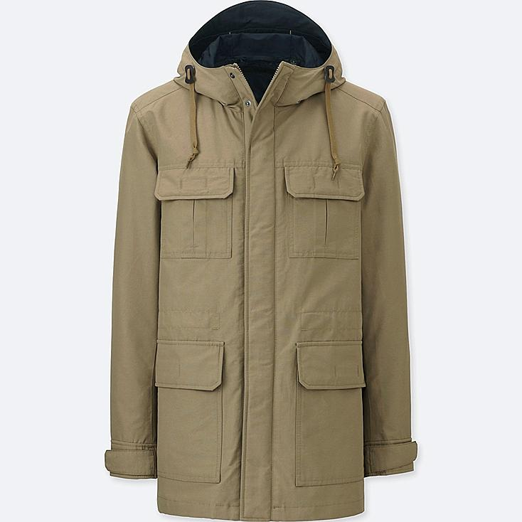 MEN MOUNTAIN PARKA, BEIGE, large