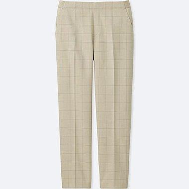 WOMEN SMART STYLE ANKLE LENGTH PANTS, BEIGE, medium