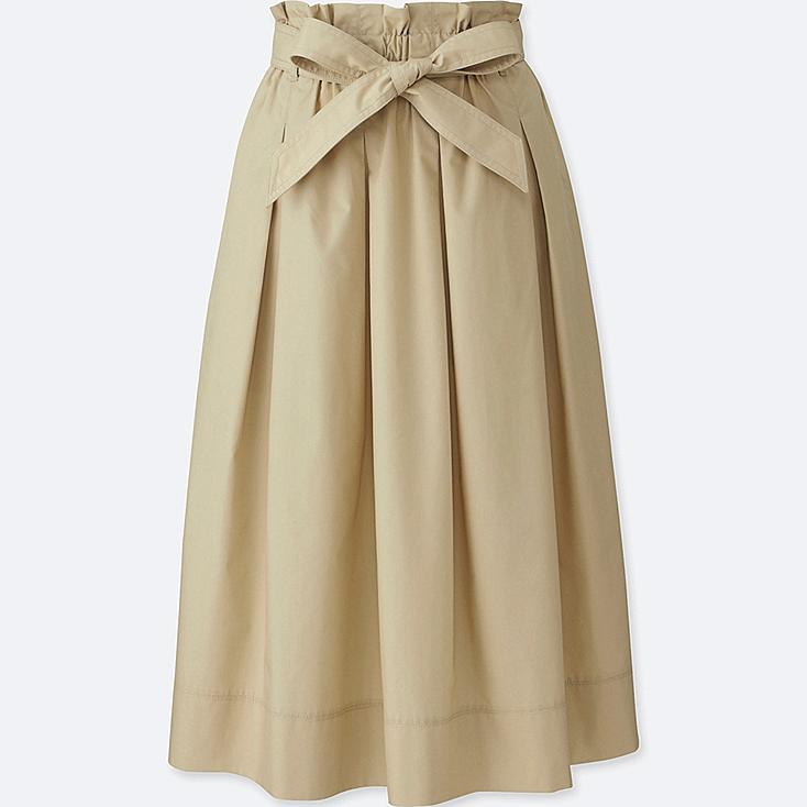 WOMEN HIGH WAIST BELTED FLARE MIDI SKIRT | UNIQLO US