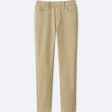 BOYS TWILL RELAXED SLIM FIT PANTS, BEIGE, medium