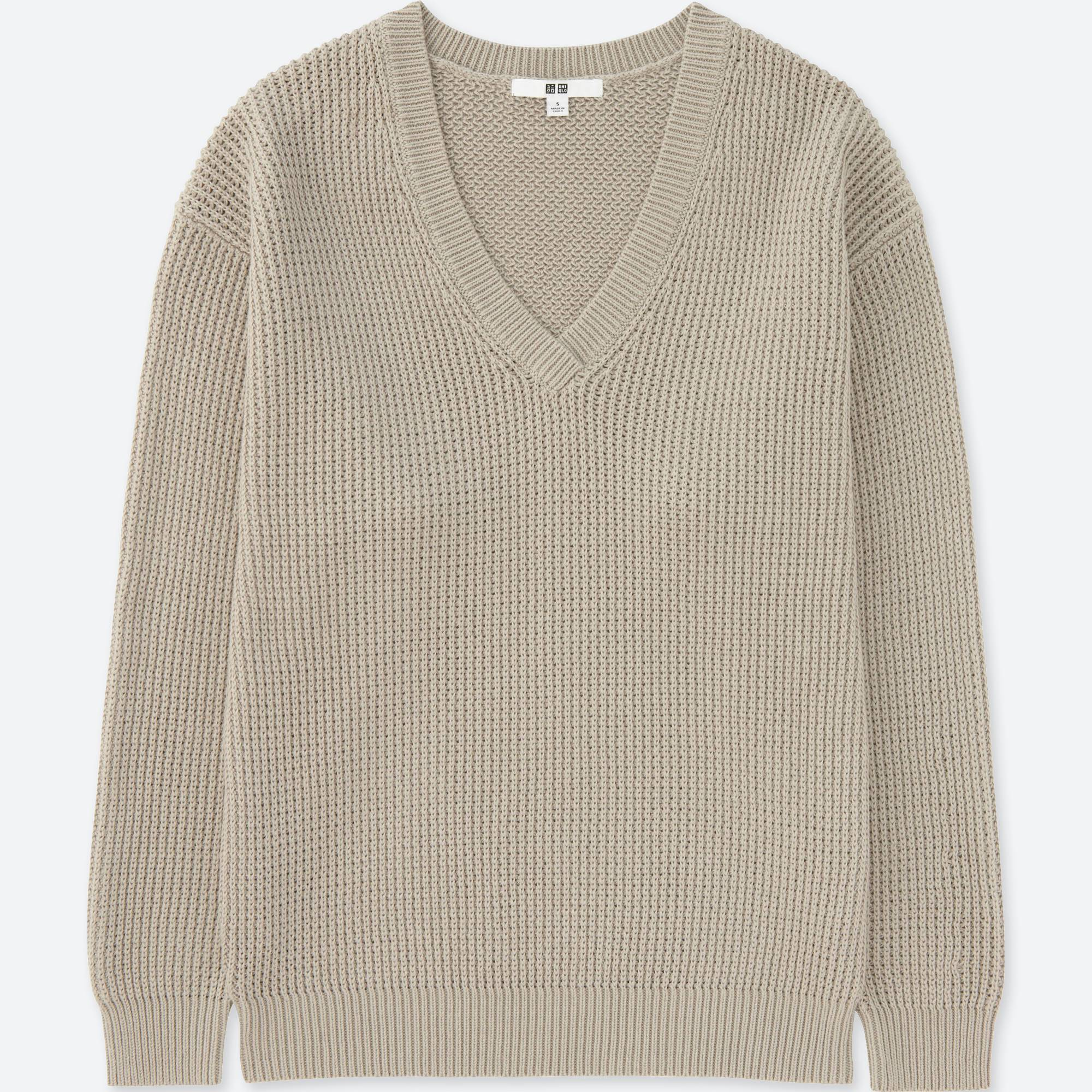 WOMEN OVERSIZED V-NECK SWEATER | UNIQLO US