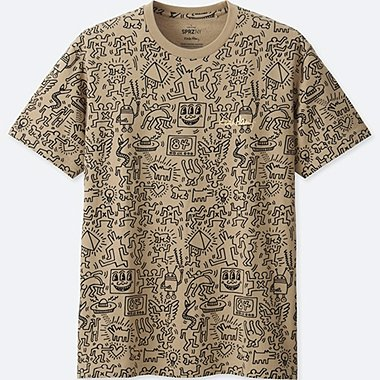 MEN SPRZ NY SHORT-SLEEVE GRAPHIC T-SHIRT (KEITH HARING), BEIGE, medium