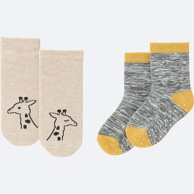 BABY SOCKS 2P, BEIGE, medium