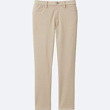 WOMEN CROPPED LEGGINGS PANTS, BEIGE, medium