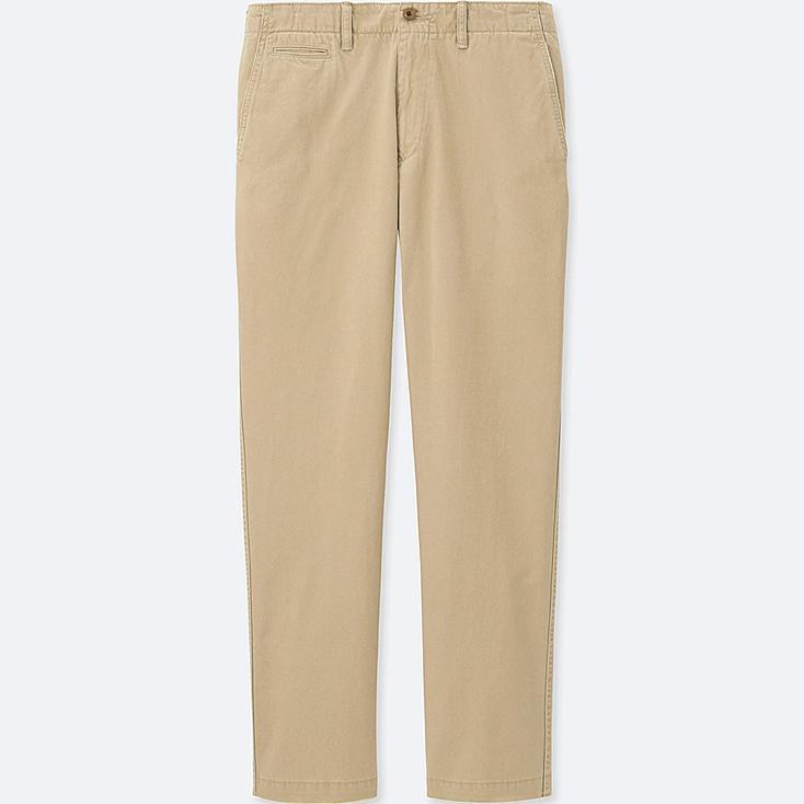 Men Vintage Regular Fit Chino Pants, BEIGE, large
