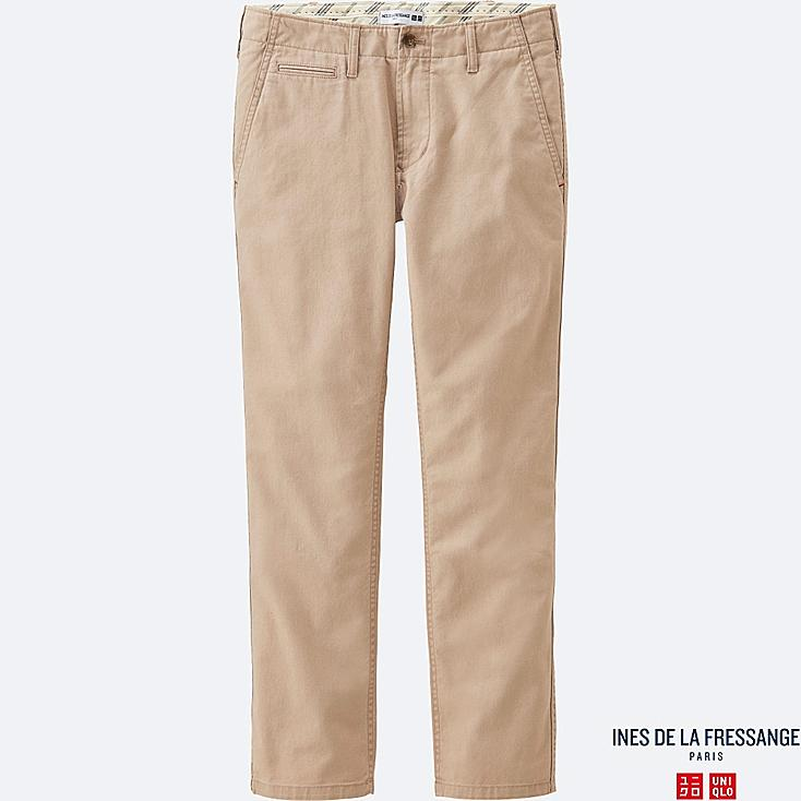 WOMEN IDLF SLAB CHINO PANTS, BEIGE, large