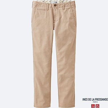 WOMEN IDLF SLAB CHINO PANTS, BEIGE, medium