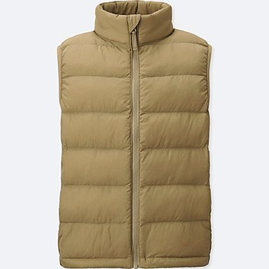 BOYS LIGHT WARM PADDED VEST, BEIGE, medium