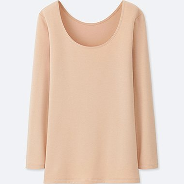 WOMEN HEATTECH EXTRA WARM SCOOP NECK T-SHIRT