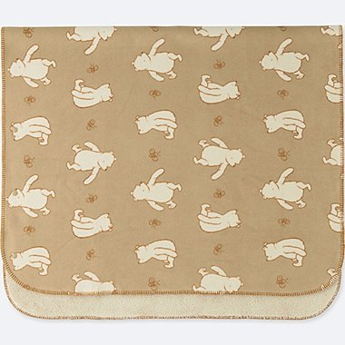 DISNEY HOLIDAY COLLECTION FLEECE BLANKET, BEIGE, medium